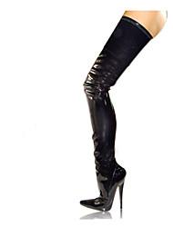 cheap -Women's Boots Winter  PU Party & Evening Stiletto Heel Zipper Black Red