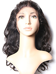 cheap -Msbeauty 360 Frontal Body Wave Free Part Swiss Lace Human Hair With Baby Hair / Soft Daily