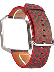 preiswerte -Rot / Blau / Grau Leder Sport Band Für Fitbit Uhr 23mm