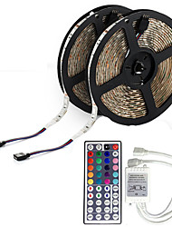 10M 5050 RGB LED Flexible Strip Light Non-waterproof DC 12V 600LEDs with 44Key IR Remote Controller Kit