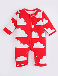 cheap -Baby Daily One-Pieces, Cotton Winter Fall Long Sleeves Red