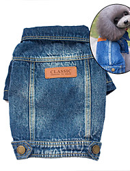 Dog Denim Jacket/Jeans Jacket Dog Clothes Cute Cowboy Fashion Jeans Blue Costume For Pets