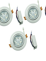 cheap -YouOKLight 3PCS 5W 5xLEDs Epistar  450lm  White/Warm White Ceiling Lamp  (AC 100-240V)