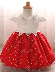 Robe Fille de Sortie Points Polka Polyester Eté Manches courtes