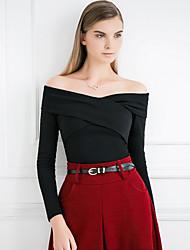 levne -Dámské - Jednobarevné Tričko, Nabírané šaty