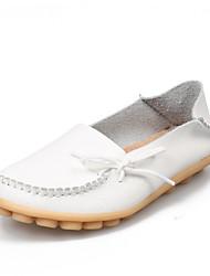 Недорогие --Для женщин-Для прогулок Для офиса Для занятий спортом Повседневный-Кожа-На плоской подошве-Удобная обувь-На плокой подошве