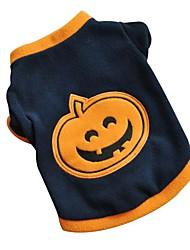 economico -Gatti Cani T-shirt Abbigliamento per cani Inverno Primavera/Autunno Zucca Divertente Halloween Blu scuro