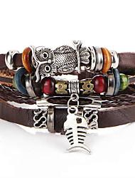 cheap -Men's / Women's Leather Bracelet - Anchor Fashion Bracelet Coffee For Christmas Gifts / Gift / Daily