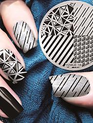 billige -1 pcs Stempling plade Skabelon Moderigtigt Design Negle kunst Manicure Pedicure Stilfuld / Mode Daglig / Stempling Plate