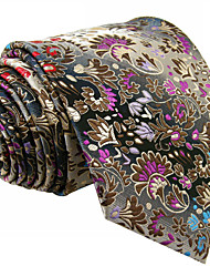 Недорогие -мужская милая партия работа случайный районный галстук цветочно-цветовой блок жаккард, основной