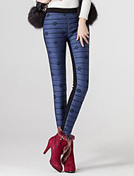 Women Skinny Pants Trousers Winter High Waisted Slim Warm Thick Duck Down Long Pants Trousers