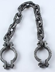 1pc Halloween accessoires chaîne manuelle de chaîne de pied de prisonniers de la chaîne épaisse