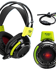 Kubite K-T03 Headset PC Player Gaming Headset 3.5mm Stereo LED Lights Surround Sound Effects Of Vibration Function