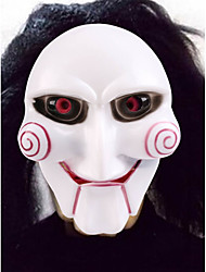 PVC Saw Chainsaw Killer Theme Clown Joker Mask Original Halloween Masquerade Cosplay Mask Party Costume Prop