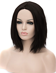 cheap -Synthetic Wig Straight Asymmetrical Haircut Synthetic Hair Natural Hairline Black Wig Women's Mid Length Cosplay Wig Capless Halloween /