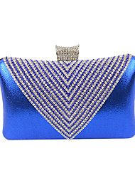 cheap -Women Bags Velvet Evening Bag Crystal/ Rhinestone for Wedding Event/Party Formal All Seasons Black Silver Golden Royal Blue