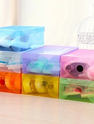 cheap -Recycle Shoes crystal storage box. High - quality color dust - proof plastic drawer - type storage box. Home decoration storage