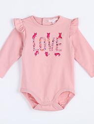 preiswerte -Baby Bluse,Lässig/Alltäglich einfarbig-Baumwolle-Herbst-