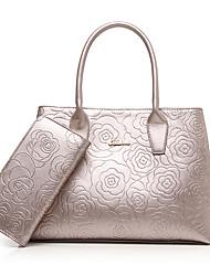 Donna Sacchetti PU (Poliuretano) sacchetto regola Set di borsa da 2 pezzi per Casual Formale Per tutte le stagioni Oro Nero Fucsia Blu