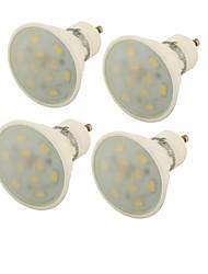 GU10 Lâmpadas de Foco de LED MR16 10 leds SMD 5730 Decorativa Branco Quente 400lm 3000K AC 85-265V