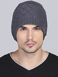 cheap -Women Men Winter Casual Outdoor Solid Color wool Twist knit warm knitted Cashmere hedging cap