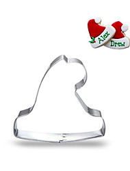 cheap -Chrismas Hat Stainless Steel Cookie Cutter Fondant Mold Biscuit Cake Mould