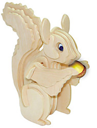 Jigsaw Puzzles Wooden Puzzles Building Blocks DIY Toys Squirrel 1 Wood Ivory Puzzle Toy