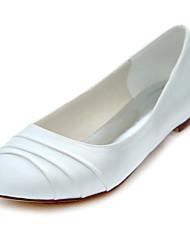 povoljno -Žene Cipele Rastezljivi saten Proljeće Ljeto Jesen Ravne cipele Ravna potpetica Okrugli Toe S volanima za Vjenčanje Zabava i večer
