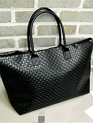 cheap -Women Bags PU leatherette Shoulder Bag Zipper for Casual Outdoor Fall Black