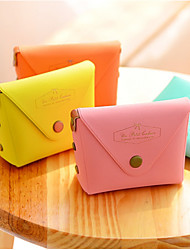 cheap -Macarons Color PU Leather Change Purse