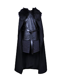 cheap -Jon Snow Cosplay Costume Masquerade Movie Cosplay Black Top Pants Gloves Cloak Halloween Carnival New Year Uniform Cloth