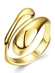preiswerte -Damen Roségold Kupfer versilbert vergoldet Rose Gold überzogen Ring - Geometrische Form Für Hochzeit Party Alltag Normal