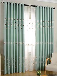 Barra no Interior Anéis Presilhas Duplo Plissado Único Plissado Dois Painéis Tratamento janela Regional , Flor Quarto Poli/Mistura de
