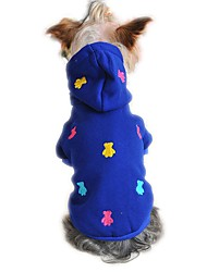 Cat Dog Hoodie Pajamas Dog Clothes Cute Casual/Daily Bear Gray Yellow Red Blue Costume For Pets