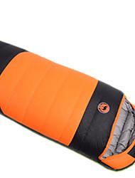 Sleeping Bag Rectangular Bag Single 10 Duck Down 1000g 230X100 Camping Traveling IndoorWaterproof Rain-Proof Windproof Well-ventilated