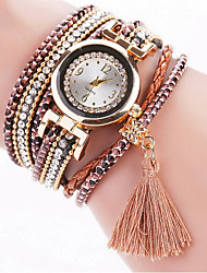 cheap -Women's Fashion Watch / Bracelet Watch / Wrist Watch Rhinestone / Cool / Imitation Diamond PU Band Charm / Vintage / Casual Black / White / Blue