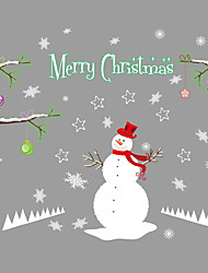 Недорогие -Пейзаж Животные Рождество Наклейки Простые наклейки Декоративные наклейки на стены Украшение дома Наклейка на стену Стена Стекло / ванной