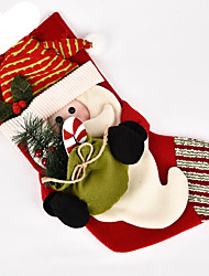 baratos -Ternos de Papai Noel Boneco de neve Decorações Natalinas Adorável Desenho Alta qualidade Fashion Têxtil Para Meninos Para Meninas Brinquedos Dom