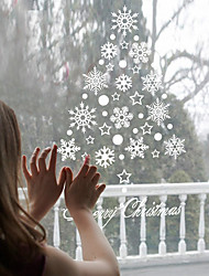 cheap -Wall Stickers Wall Decals Style New Christmas Snow PVC Wall Stickers