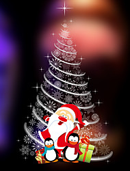 cheap -Wall Stickers Wall Decals Style Christmas Snow Tree PVC Wall Stickers