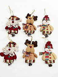 6pcs High Quality Christmas Ornaments with Small Bell