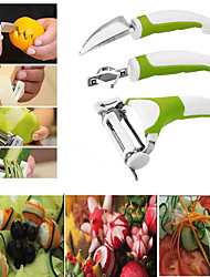 cheap -3Pcs Set Triple Slicer Fruit Sculpting Knife Vegetable Cuttur Kitchen Tools