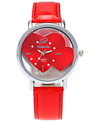 cheap -Women's Fashion Watch Wrist watch / Quartz PU Band Heart shape Cool Casual Black White Blue Red Pink
