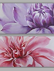 cheap -Oil Painting Hand Painted - Floral / Botanical Modern Realism Canvas