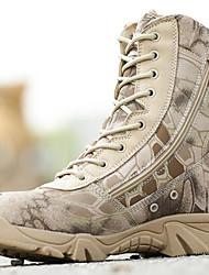 abordables -Homme Chaussures Toile Daim Hiver Automne Botillons Bottes Randonnée pour Athlétique Décontracté De plein air Noir Gris
