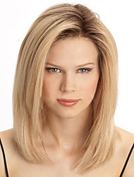 cheap -Synthetic Wig Straight Blonde Synthetic Hair Heat Resistant Blonde Wig Women's Capless / Yes