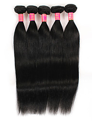 5 Pieces Straight Human Hair Weaves Brazilian Texture 500g 8-28inches Human Hair Extensions