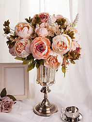 cheap -Artificial Flowers 1 Branch European Style Peonies Tabletop Flower