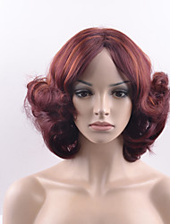 cheap -Synthetic Wig Loose Wave Red Women's Capless Carnival Wig Halloween Wig Natural Wigs Short Synthetic Hair