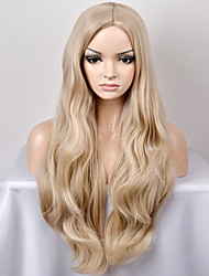 cheap -Women Synthetic Wig Capless Long Very Long Natural Wave Blonde Middle Part Natural Wig Halloween Wig Carnival Wig Costume Wigs